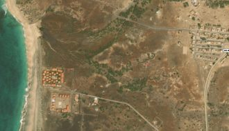 land 321 m2 aerial map of morro on maio in cape verde for sale